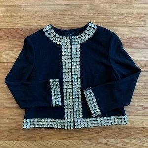 ST. JOHN 12 Embellished Gem Crystal Knit Jacket